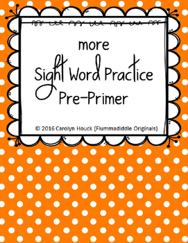 "More Sight Word Practice Dolch All Five Sets 1/2"" Lines BUNDLE"