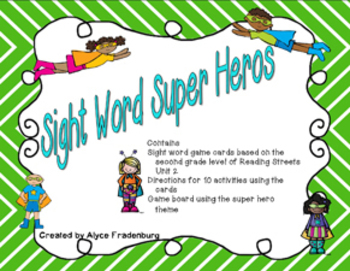 Sight Word Super Heroes Pearson Reading Streets Grade 2 Unit 2