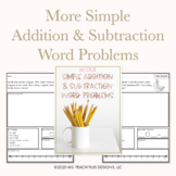 More Simple Addition and Subtraction Word Problems up to 20