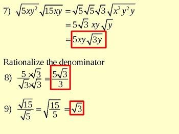 More Simplifying Radicals