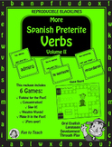 Spanish Preterite Past Tense Verbs Volume II- Spanish Game