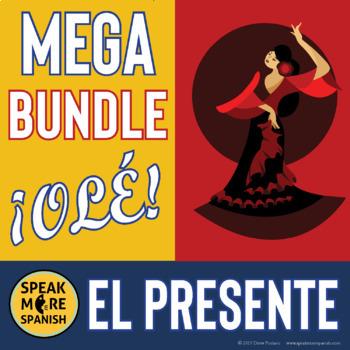 Spanish Regular Present Tense Verbs MEGA BUNDLE. Presente de Verbos Regulares