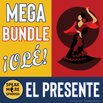 Spanish Regular Present Tense Verbs MEGA BUNDLE. Presente