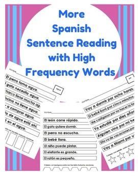 More Spanish Sentence Reading (HFW for Beginners) palabras de alta frecuencia