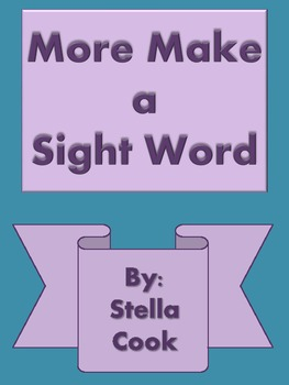 More Spell A Sight Word Packet 2