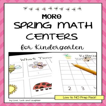 More Spring Math Centers for Kindergarten