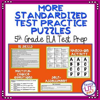 More Standardized Test Practice Puzzles - 5th Grade ELA Test Prep - TCAP Aligned