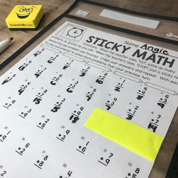 More Sticky Math Sheets | Math Fact Fluency Practice
