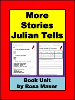 More Stories Julian Tells Book Unit