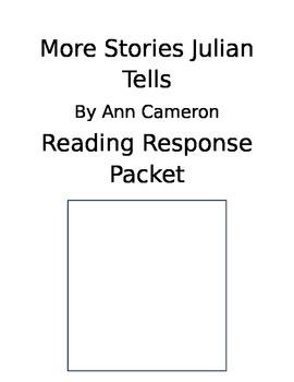 More Stories Julian Tells Reading Response Journal