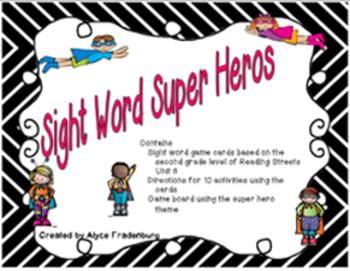 Super Hero Sight Words Pearson Reading Streets Grade 2 unit 3