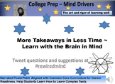 PP with Narration - More Learning  in Less Time (College Prep - CCSS aligned)