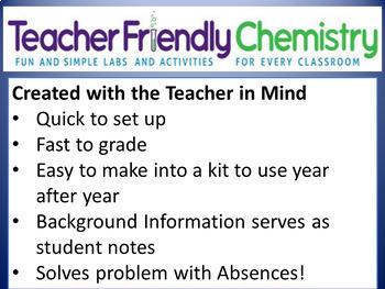 Chemistry Lab: Teacher Friendly Chemistry Labs & Activities Binder 2 PDF  29Labs