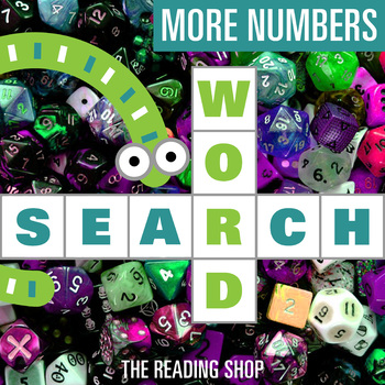 More Teen Numbers Word Search - Primary Grades - Wordsearc