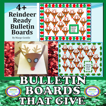 More Than 4 Reindeer Ready Bulletin Boards Kit