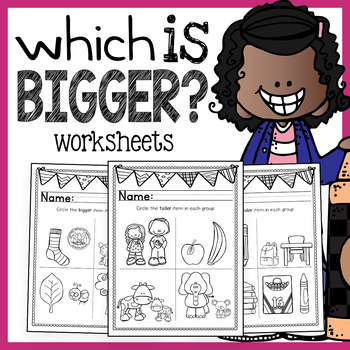 Preschool Math Worksheets - Big and Small by The Super Teacher | TpT