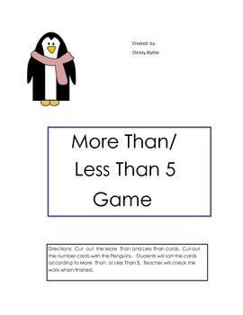 More Than/ Less Than 5 Game