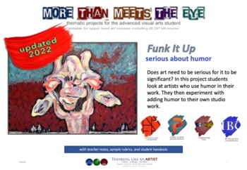 More Than Meets the Eye Bundle - 8 Thematic Art Projects for Advanced Students