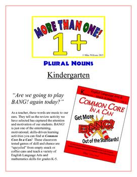 """More Than One!"" Plural Nouns Kindergarten Common Core Game"