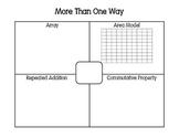 More Than One Way Multiplication Mats 3.OA.A.1, 3.OA.B.5,