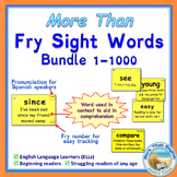 More Than SIGHT WORDS for Fluency AND Comprehension 1-1000 Bundle