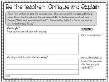 More Than a Math Center Grade 4 Operations and Algebraic Thinking Bundle