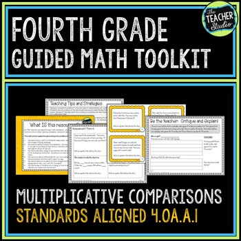 4th Grade Guided Math Toolkit: Multiplication Comparison Problems