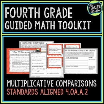More Than a Math Center Multiplication and Addition Comparison Problems