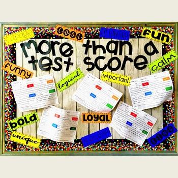 More Than a Test Score Bulletin Board