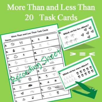 More Than and Less Than Task Cards