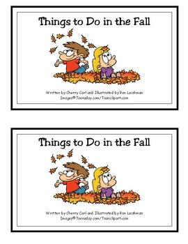More Things to Do in the Fall Reproducible Guided Reading Book