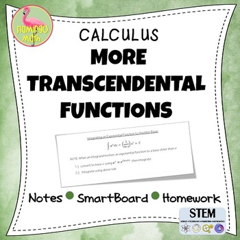 Calculus: More Transcendental Functions