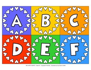 More Valentine Heart Alphabet ABC…123…