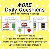 More Visual Daily Questions for the Year for Special Ed and Autism Classrooms
