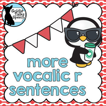 More Vocalic R Sentence Cards |Speech Therapy | Articulation