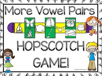 "Phonics ""Vowel Pairs Set Two (Hopscotch Game)"