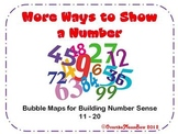 More Ways to Show a Number 11-20 Bubble Maps