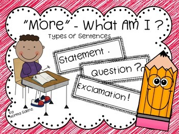 """More"" - What Am I?  Types of Sentences"