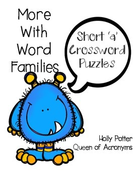 More With Word Families: Short 'a' Crossword Puzzles