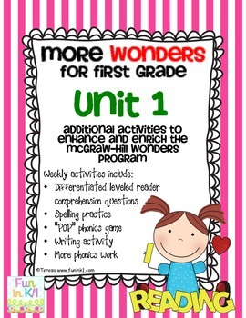More Wonders for First Grade Unit 1