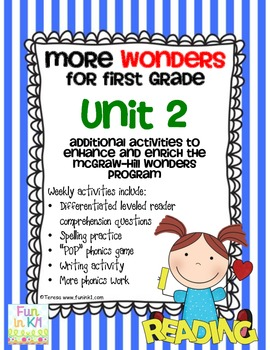 More Wonders for  First Grade Unit 2