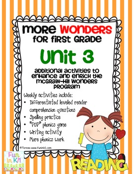 More Wonders for First Grade Unit 3