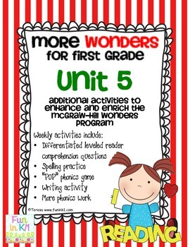 More Wonders for First Grade Unit 5