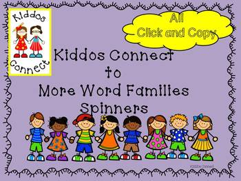 Word Families - Kiddos Connect ALL YEAR with More Wonderful Word Families