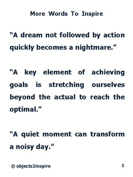 More Words To Inspire: motivational sayings to encourage success