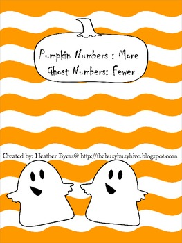 More and Fewer Pumpkin and Ghost Math Ladders