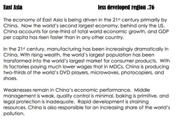 More and Less Developed Regions of the World PROJECT