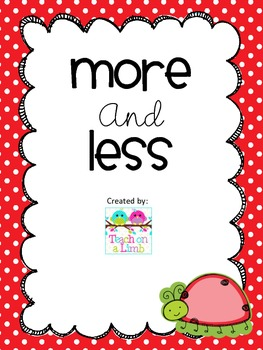 More and Less Math Activity