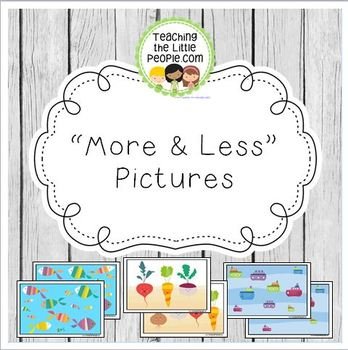 """More and Less"" Printable Pictures for Preschool and Kindergarten"