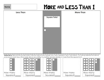 More and Less Than 1 to 10 Math Worksheets